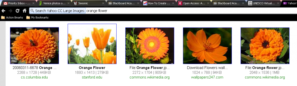 Large Creative Commons Licensed Search in Chrome Omnibar